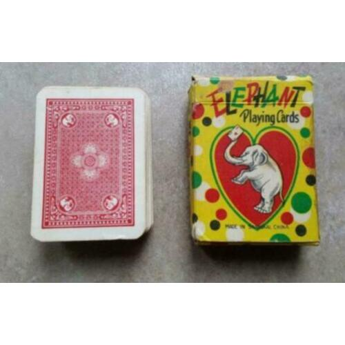 904. Antiek pakje speelkaarten mini Elephant playing Cards